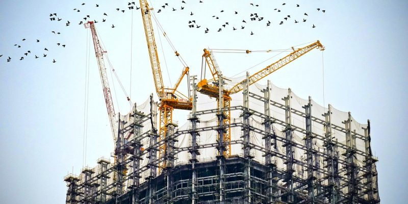 construction échafaudage